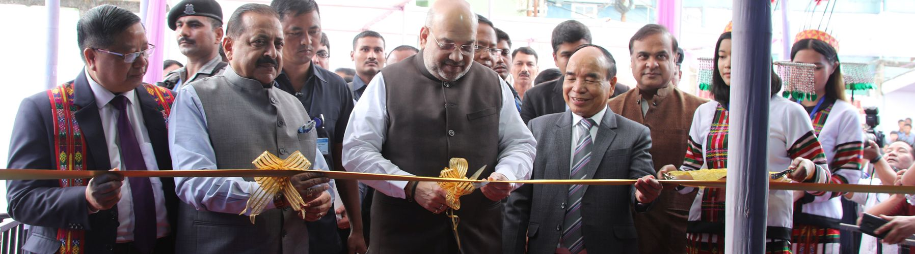 Union Minister for Home Affairs, Shri Amit Shah inaugurating the North East Handloom and Handicraft Exhibition in Aizawl, Mizoram  on October 5, 2019.