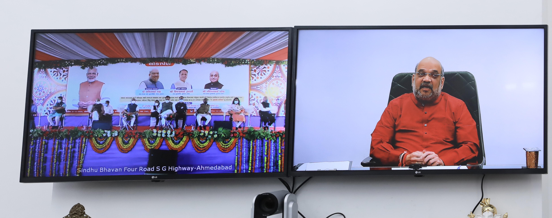Shri Amit Shah inaugurating two flyover bridges