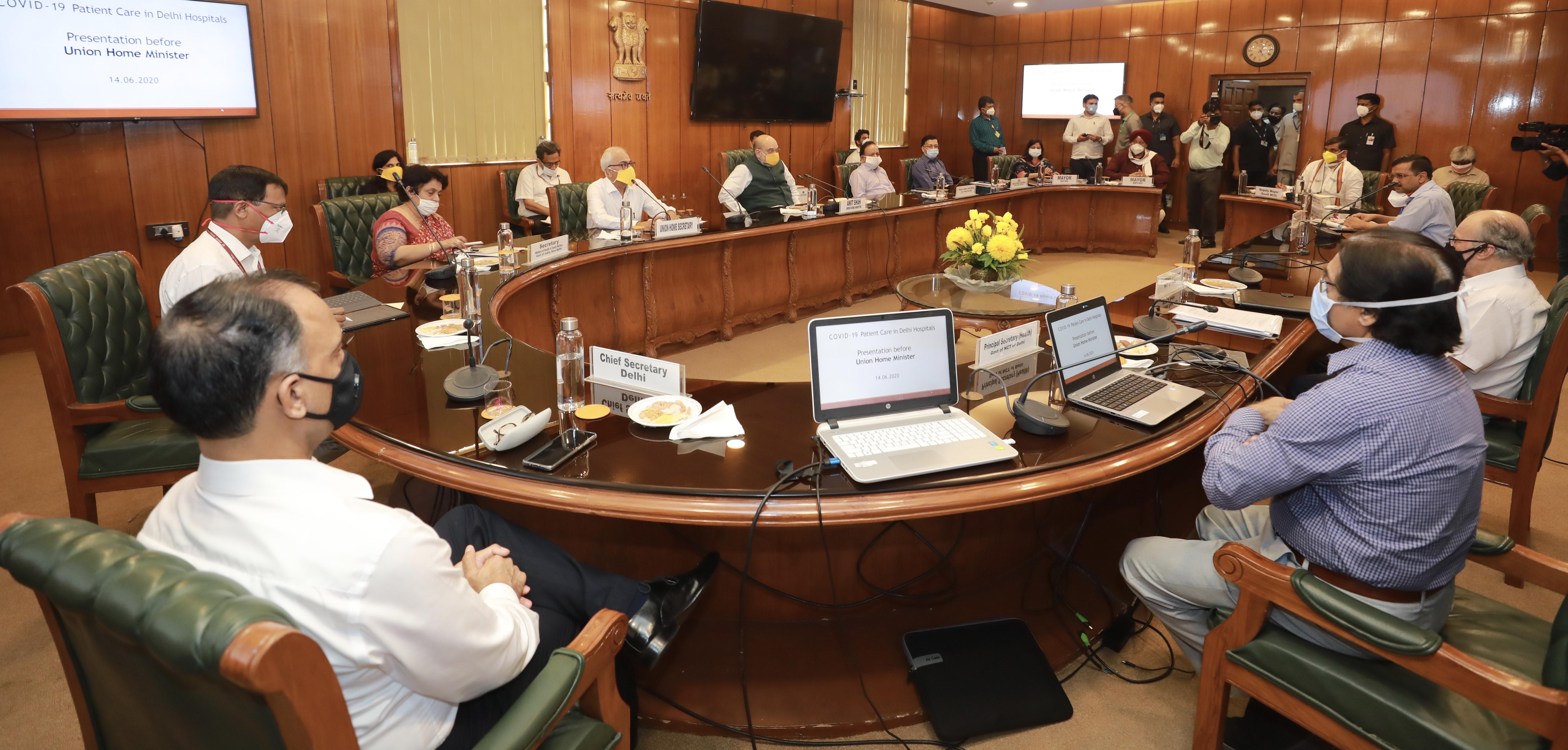 Union Home Minister Shri Amit Shah chairing a meeting
