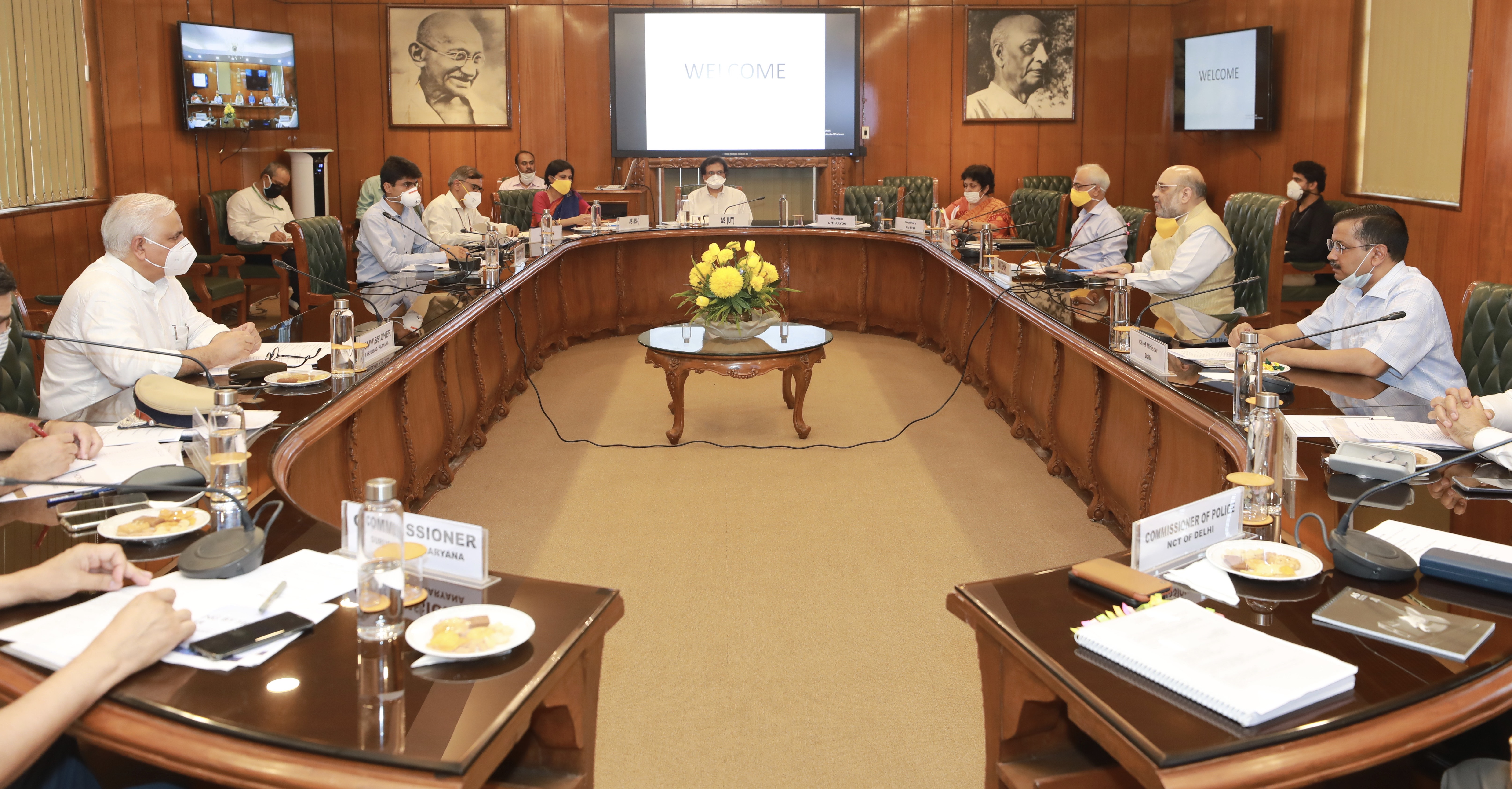 Amit Shah chairing a review meeting