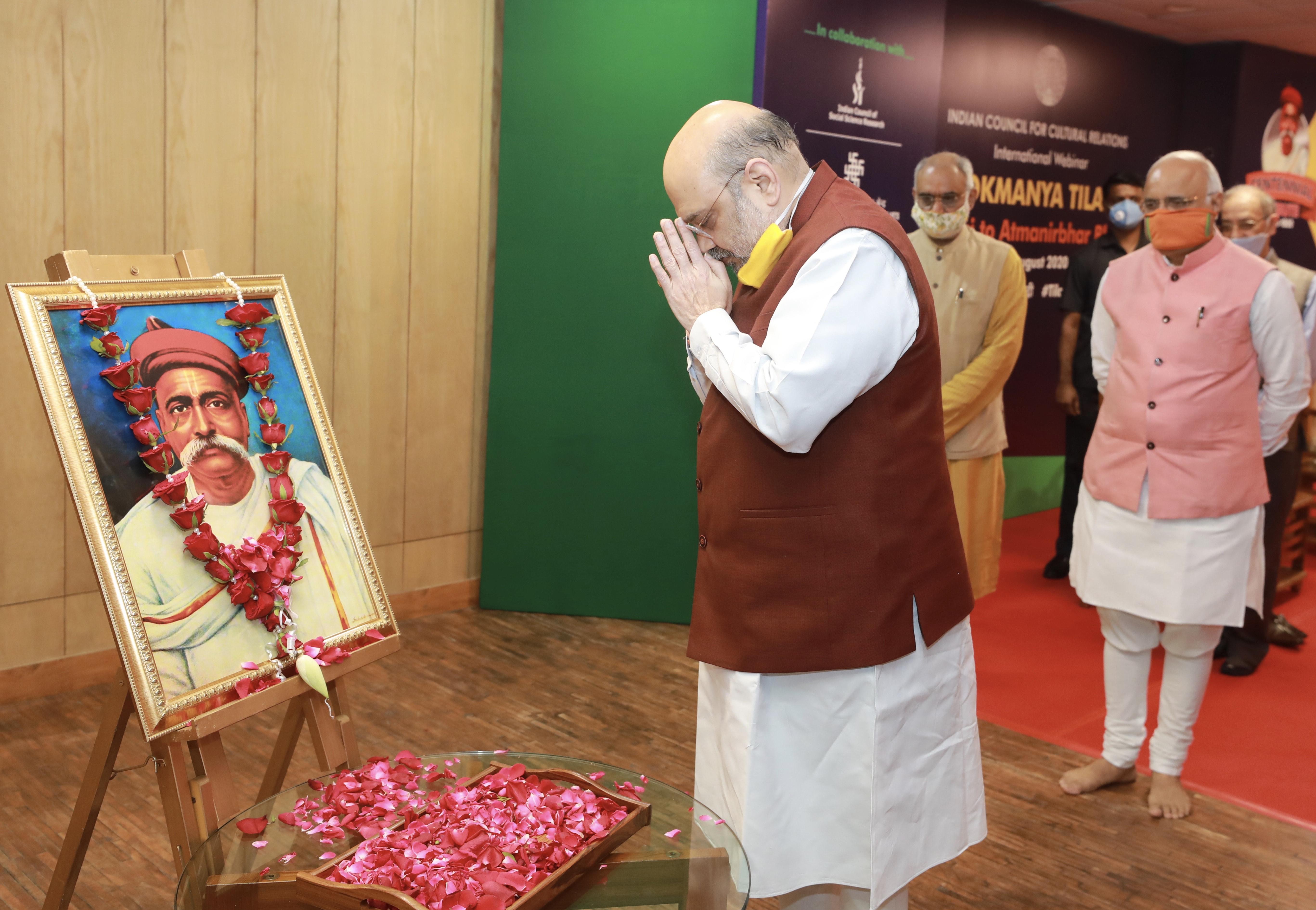 Shri Amit Shah at the inauguration of a two day international webinar