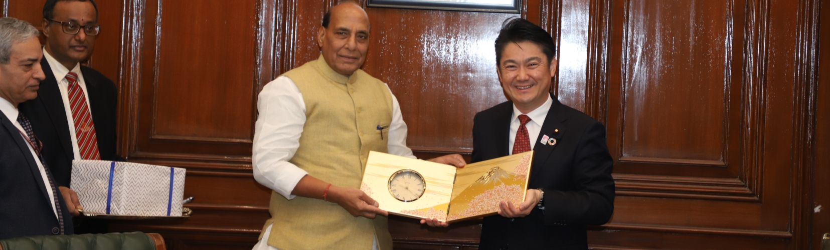 Hon'ble HM meeting with Minister of Justice, Japan on 10.01.2019.