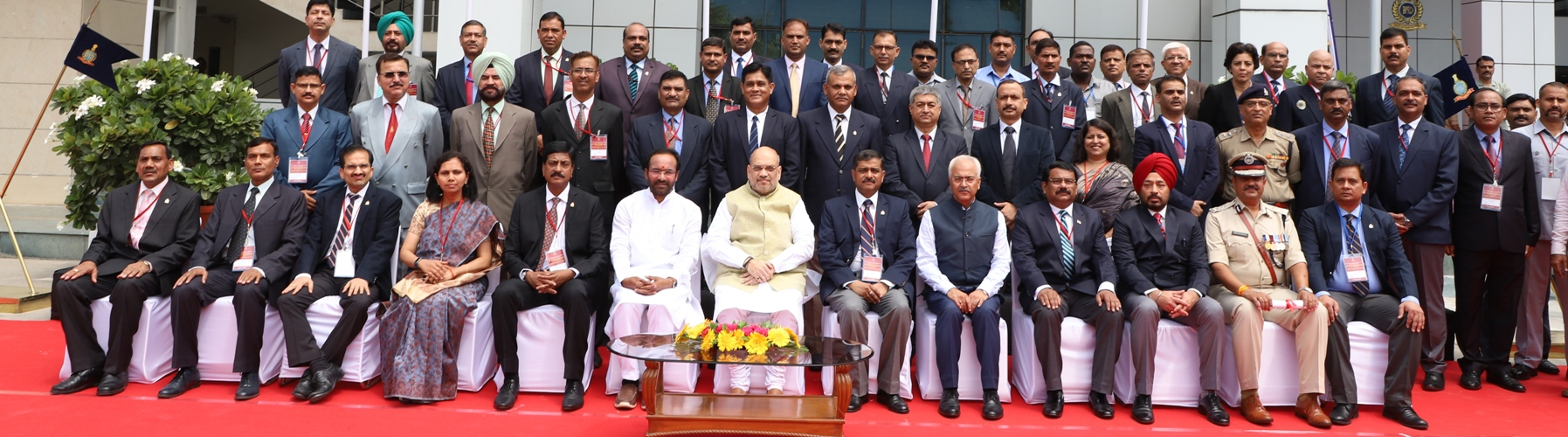 Union Minister for Home Affairs Shri Amit Shah presiding over the 49th Foundation Day of Bureau of Police Research and Development (BPRD) as Chief Guest, in  New Delhi on  August  2019.