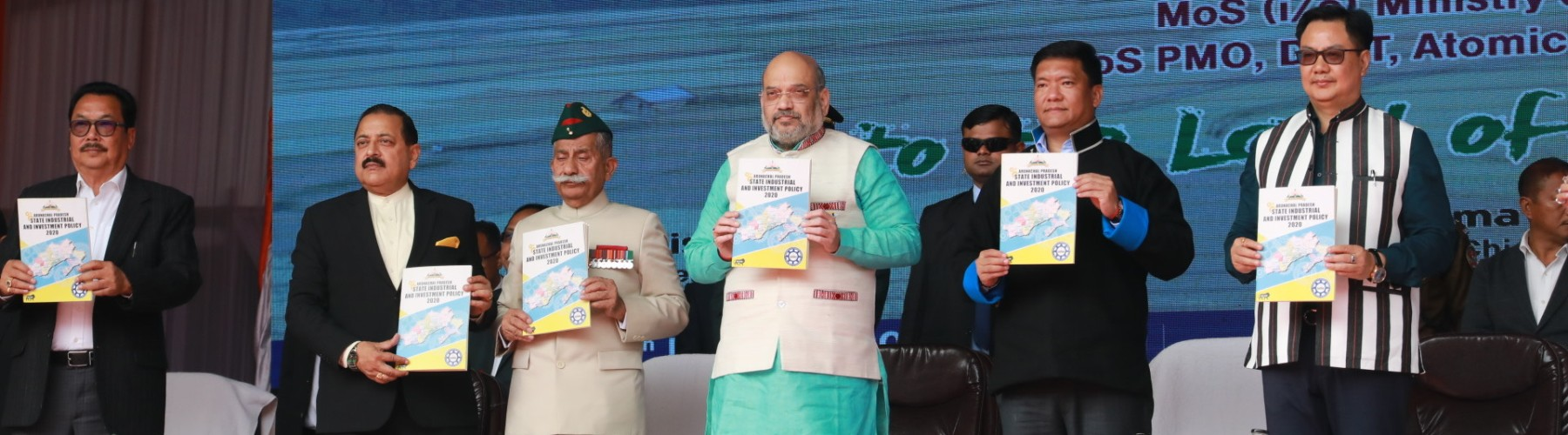 Union Minister for Home Affairs, Shri Amit Shah presides over the 34th Statehood Day celebrations of Arunachal Pradesh in Itanagar, on February 20, 2020. He launched of Arunachal Pradesh Industrial and Investment Policy 2020