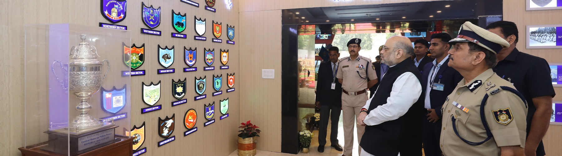 Union Minister for Home Affairs, Shri Amit Shah visiting the CRPF Head Quarters, in New Delhi, on November 15, 2019.