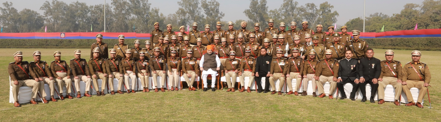 Union Minister for Home Affairs, Shri Amit Shah presiding over the 73rd Raising Day Parade of the Delhi Police, in New Delhi, on 16.02.2020. The Home Minister inspected the parade and received the ceremonial guard of Honour from the Delhi Police officers.