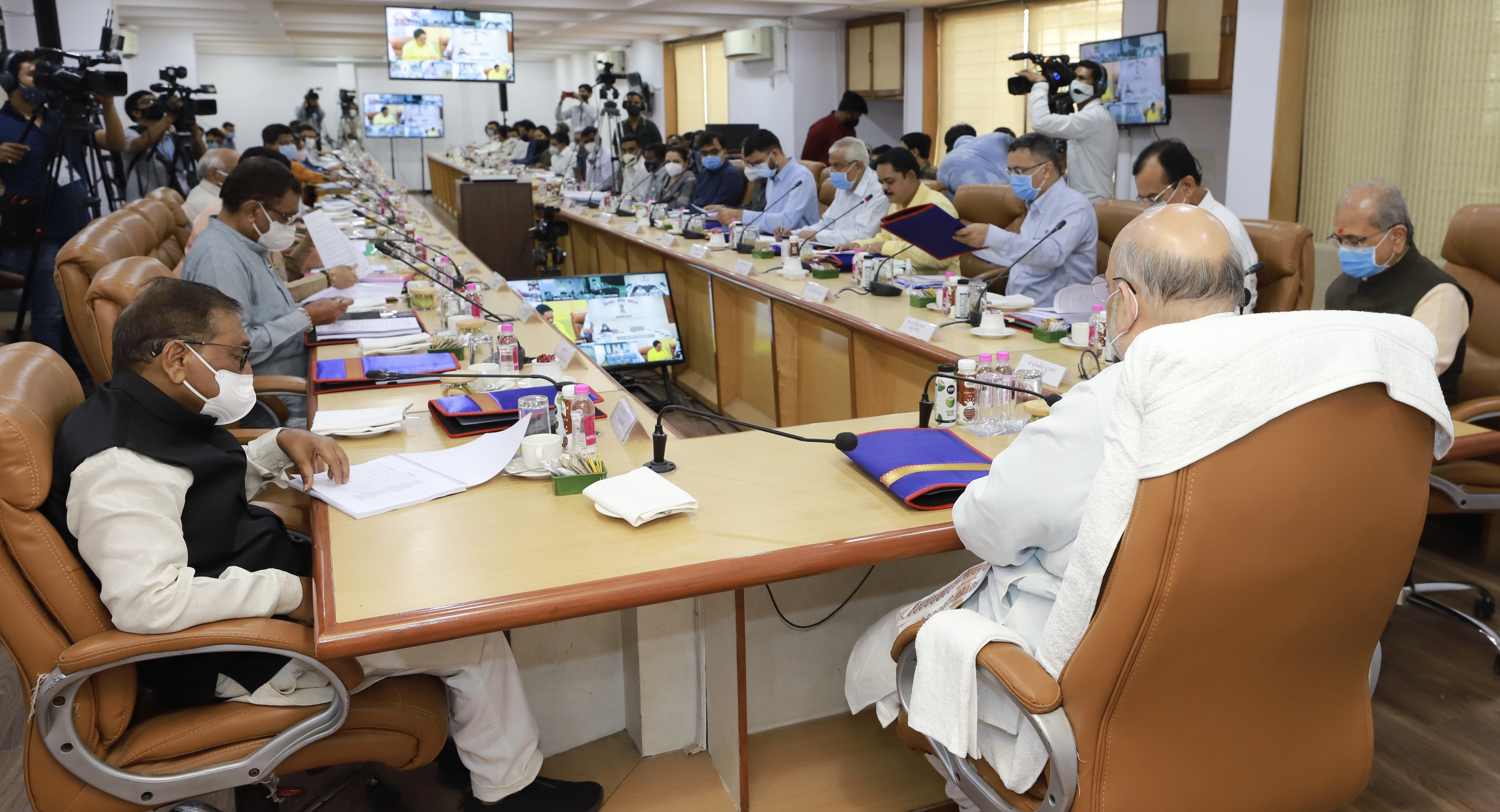 HM Shri Amit Shah chaired Ahmedabad District's Disha Meeting at Collector office Ahmedabad