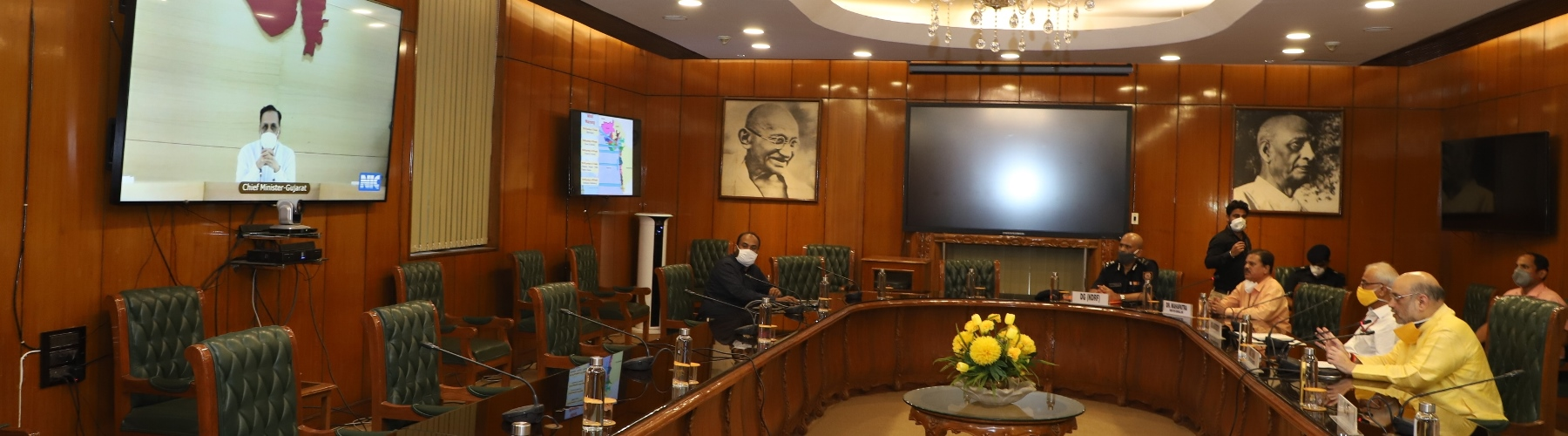 Union Home Minister, Shri Amit Shah held a Video Conference meeting with Chief Minister of Gujarat, Shri Vijay Rupani, to assure all Central help in view of impending Cyclone in Arabian Sea, in New Delhi, on 01.06.2020
