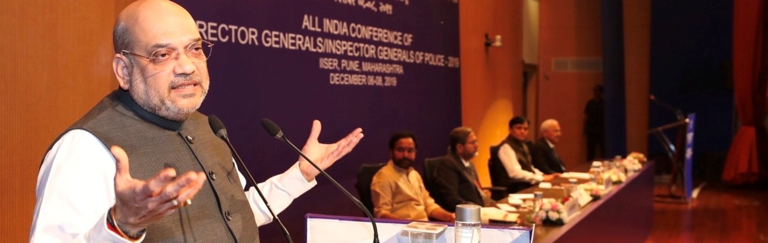 The Union Home Minister, Shri Amit Shah addressing the  All India conference of Director Generals/Inspector Generals of  Police-2019 in Pune, on December  06, 2019