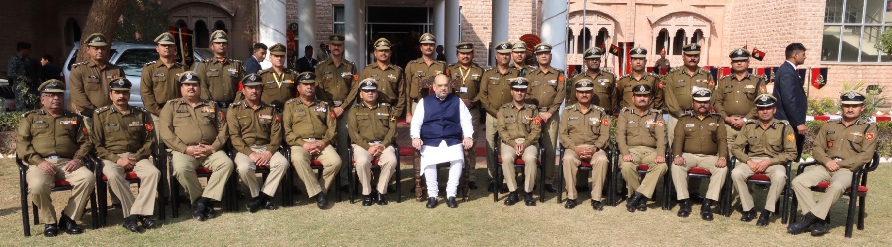 Union Minister of Home Affairs Shri Amit Shah meets officers of Border Security Force (BSF) posted on the Rajasthan frontier in Jodhpur on January 3, 2020