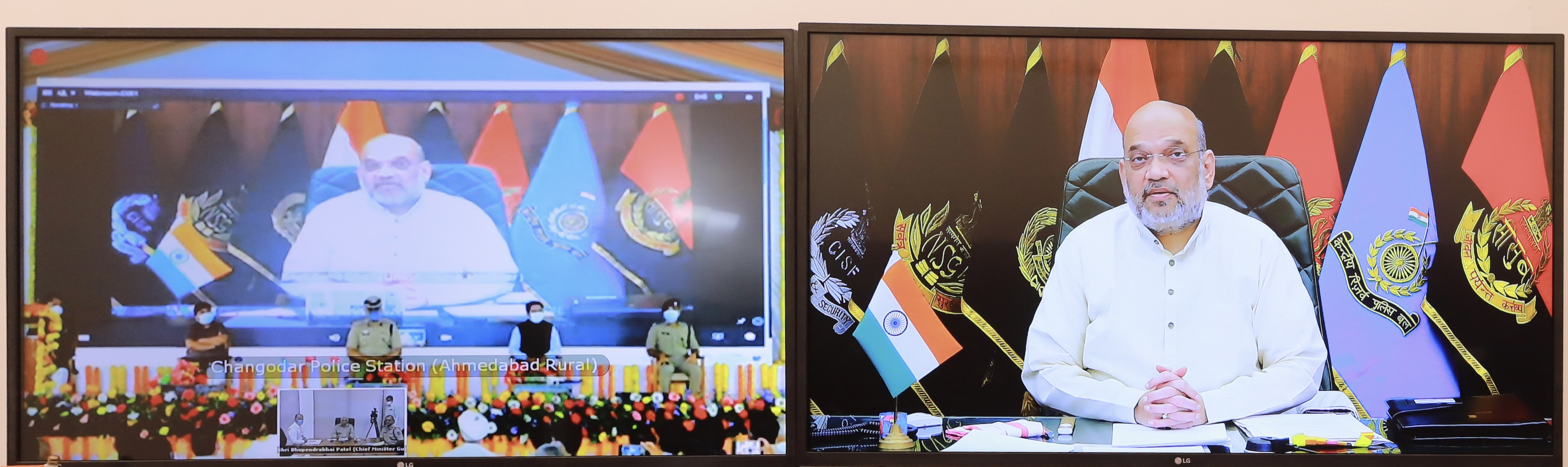 Shri Amit Shah inaugurated new police stations, police buildings and launched SHE TEAM and SETU applications in Ahmedabad