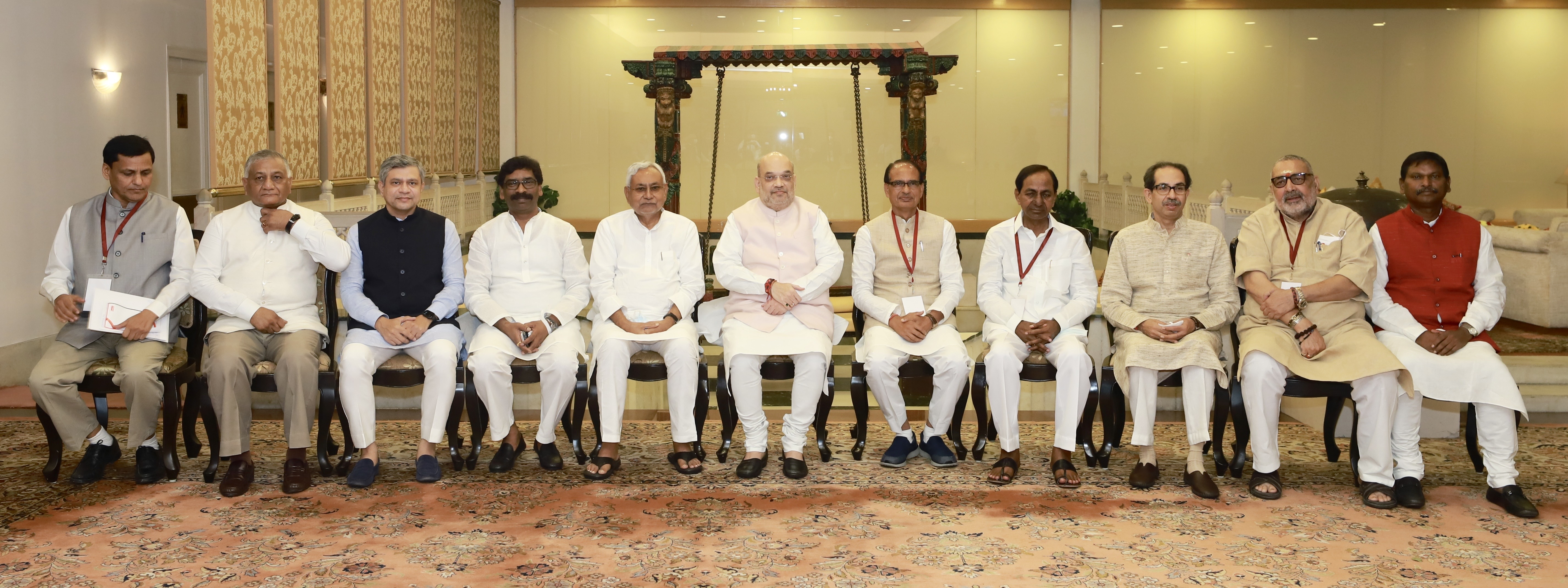Shri Amit Shah chairs review meeting in New Delhi.