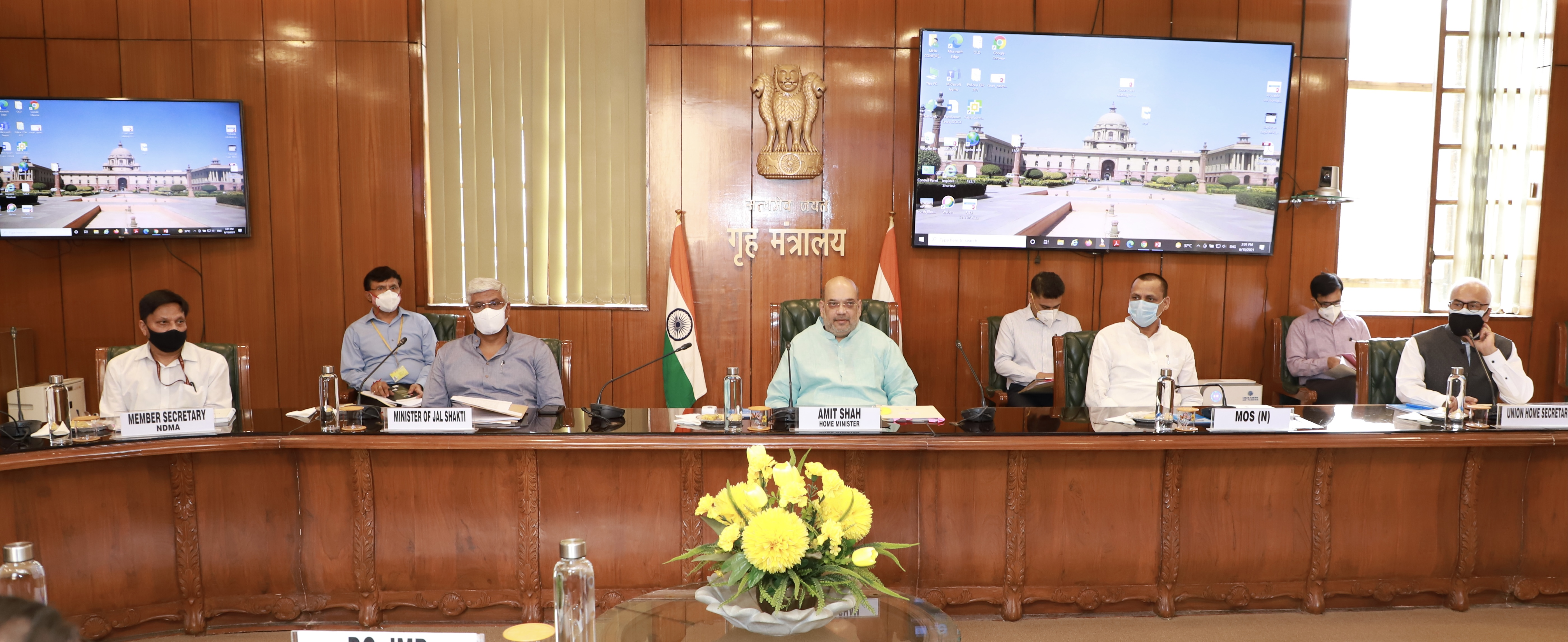 Minister Shri Amit Shah holding a high-level meeting