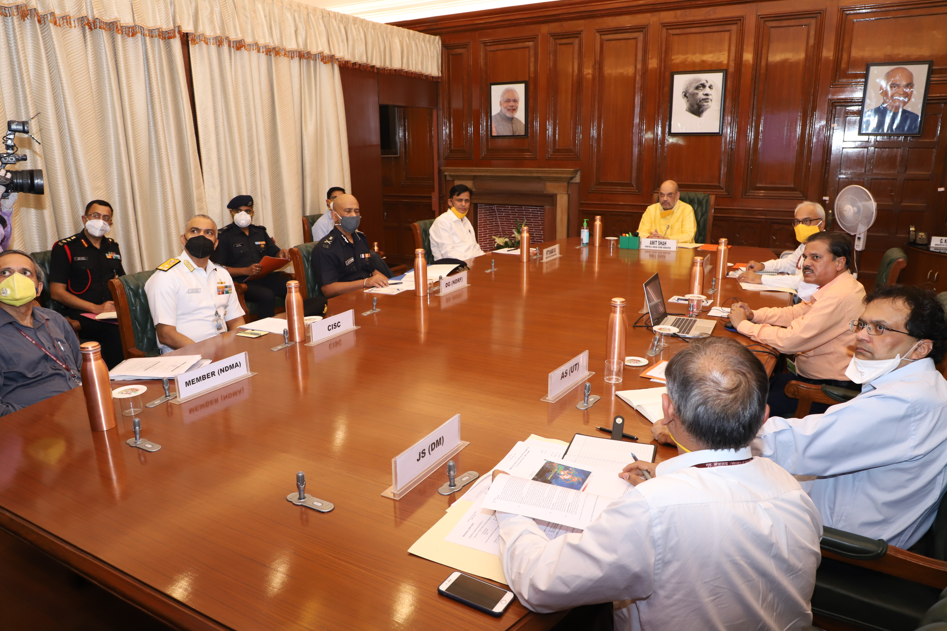 Union Home Minister Shri Amit Shah chairing a review meeting