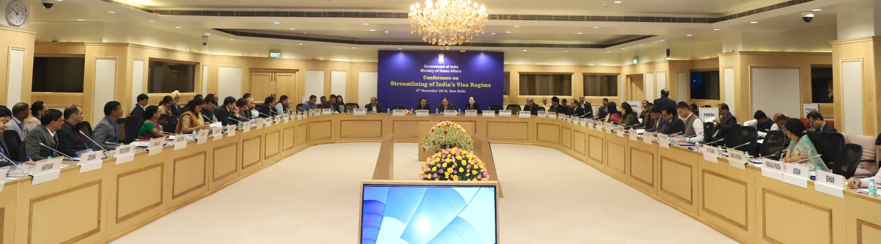 The Union Home Secretary Shri Rajiv Gauba chairing a conference on Streamlining of India(s) Visa regime in New Delhi on December 4, 2018.