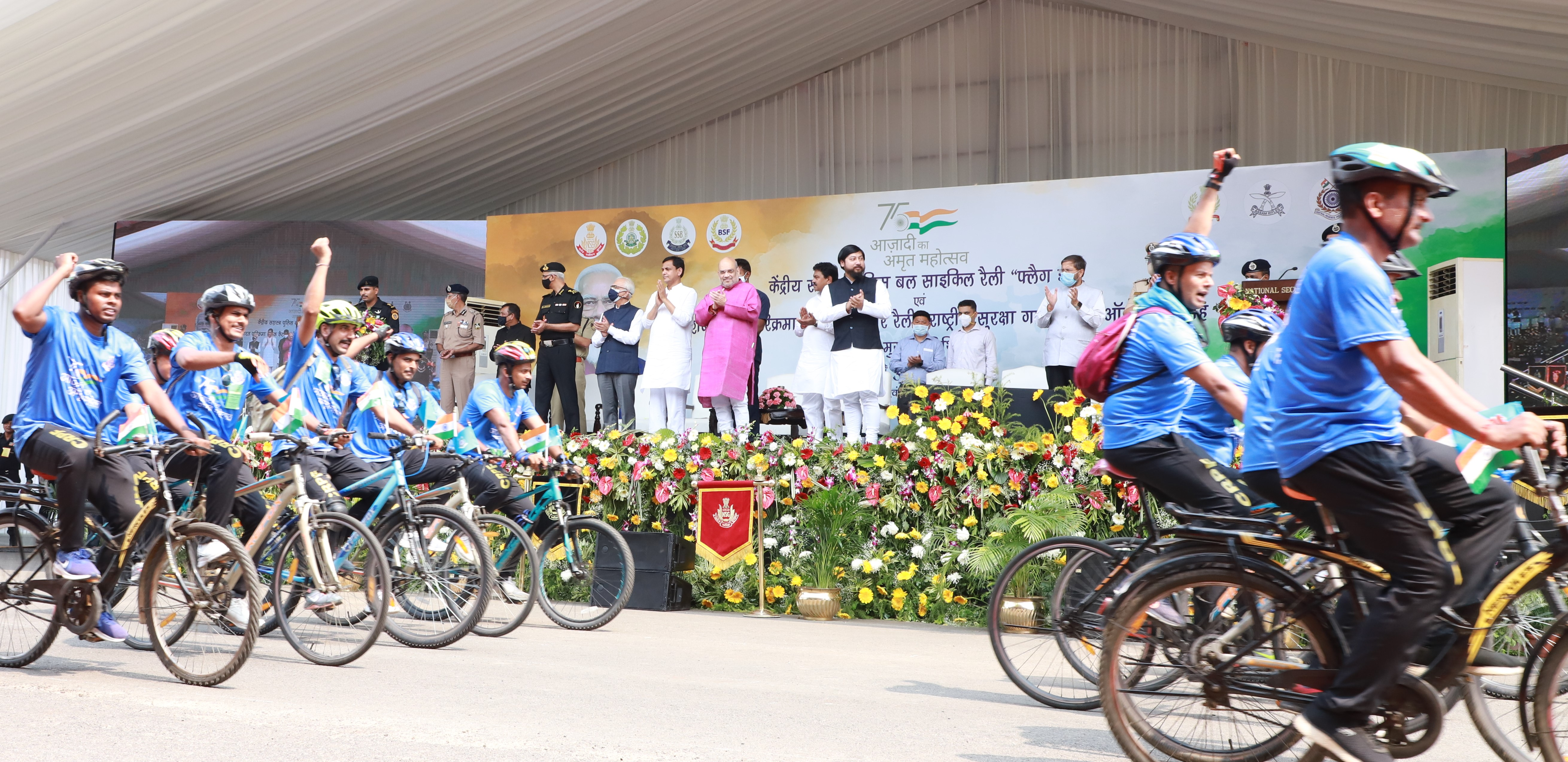 Shri Amit Shah flagged-off an All India Car Rally of National Security Guard (NSG)