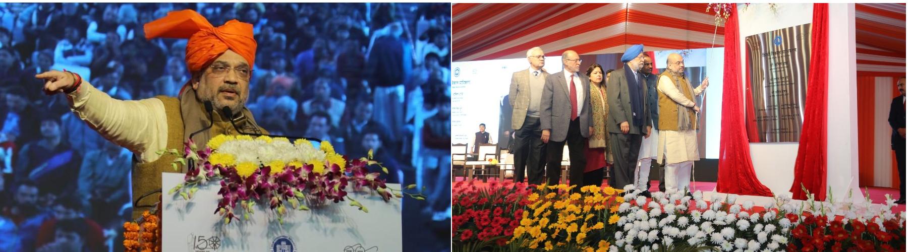 Union Minister for Home Affairs, Shri Amit Shah laid foundation stone of The Delhi CycleWalk at Tughlakabad, New Delhi , on January 6, 2020.