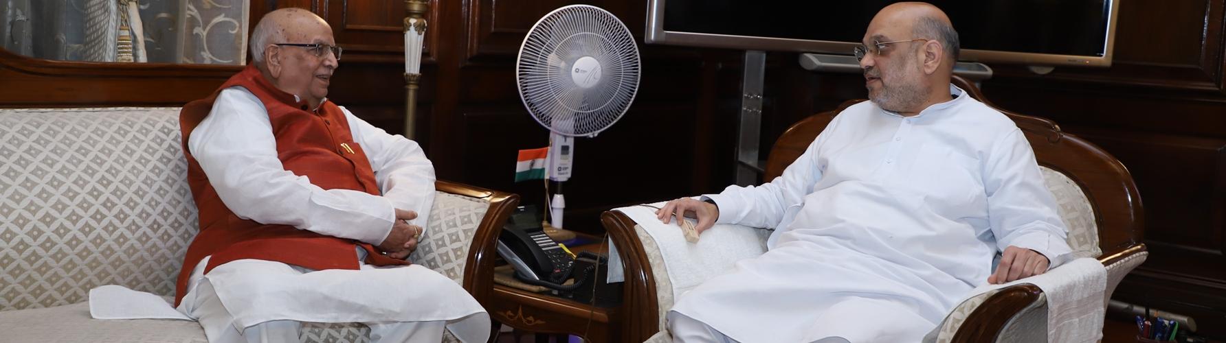 The Governor  of Madhya Pradesh Shri  Lalji Tandon  calling on the Union Home Minister, Shri Amit Shah in New Delhi on August 27, 2019.