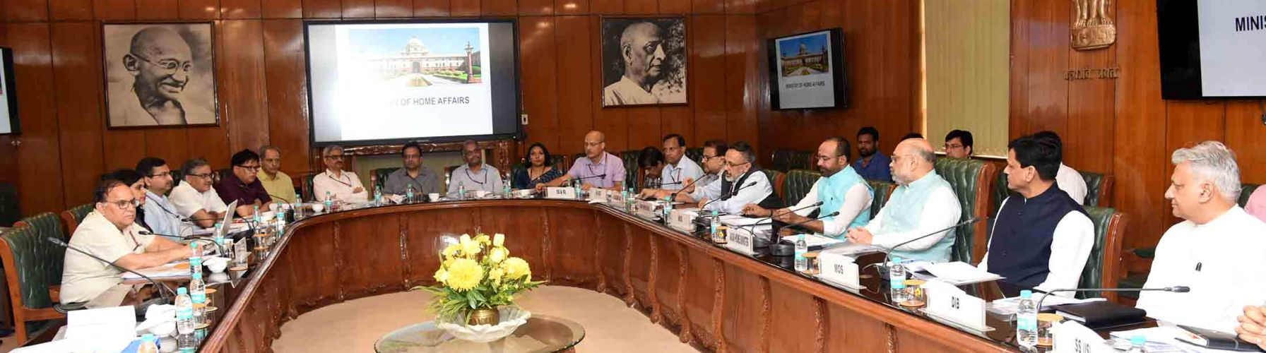 Union Home Minister, Shri Amit Shah chairing a review meeting with senior officers of MHA on June 1, 2019 in New Delhi.