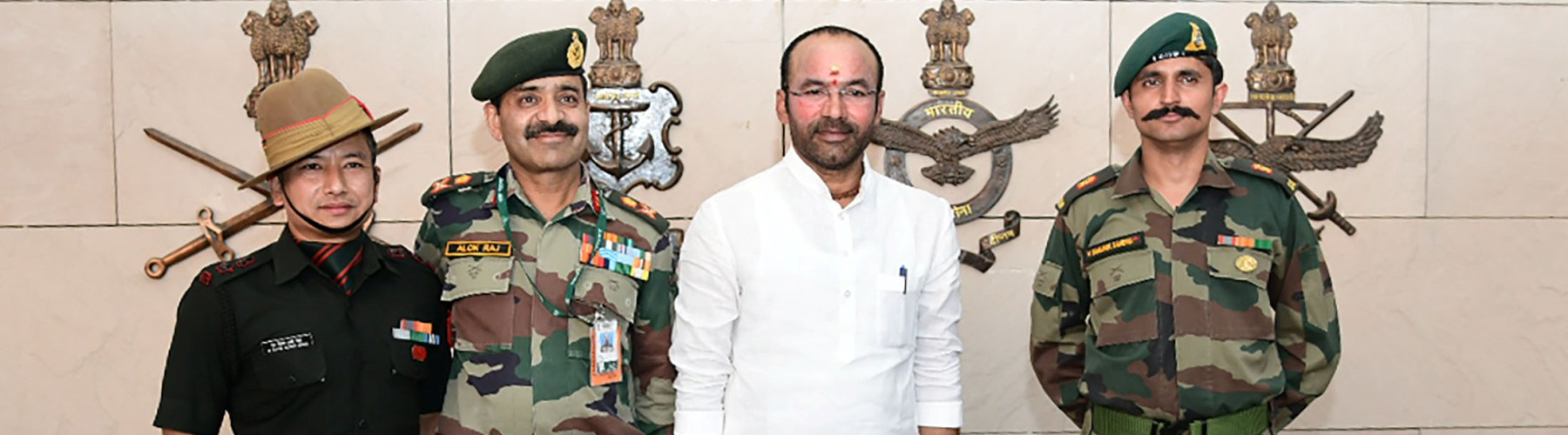 The Minister of state  for Home Affairs, Shri G. Kishan Reddy paying tribute  at National  War Memorial  in  New Delhi on June 14, 2019.